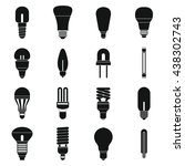 light bulb icons set  simple... | Shutterstock .eps vector #438302743