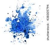 watercolor background for... | Shutterstock . vector #438305794