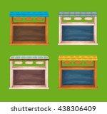 game wooden store windows set