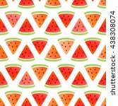 Watermelon. Vector Seamless...