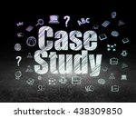 learning concept  glowing text... | Shutterstock . vector #438309850