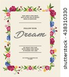 embroidery for fashion with... | Shutterstock .eps vector #438310330