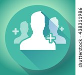 adding referrals. teamwork and... | Shutterstock .eps vector #438311986