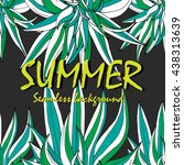 bright tropical seamless... | Shutterstock .eps vector #438313639