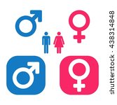 vector male   female icon set.... | Shutterstock .eps vector #438314848