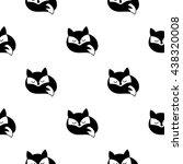 fox vector seamless monochrome...   Shutterstock .eps vector #438320008