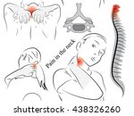 seamless background pain in the ... | Shutterstock .eps vector #438326260