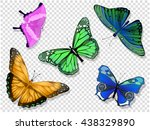 colorful isolated butterflies....