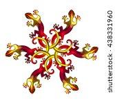 lizard  fire geckos  surf style ...   Shutterstock . vector #438331960
