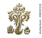 ganesha  elephant god  hindu ...   Shutterstock . vector #438332110
