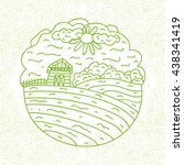 farm. vector illustration.   Shutterstock .eps vector #438341419