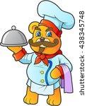 chef teddy bear | Shutterstock .eps vector #438345748