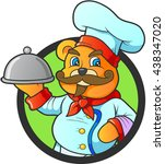 chef teddy bear | Shutterstock .eps vector #438347020