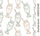 seamless pattern cherry... | Shutterstock .eps vector #438353548
