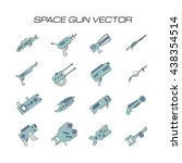 space gun vector. space weapons ... | Shutterstock .eps vector #438354514