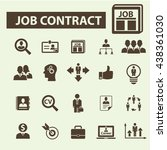 job contract icons | Shutterstock .eps vector #438361030