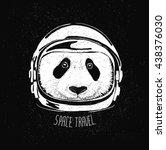 space helmet panda | Shutterstock .eps vector #438376030