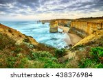 twelve apostles sea rocks in... | Shutterstock . vector #438376984