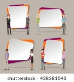 vector banners   backgrounds... | Shutterstock .eps vector #438381043