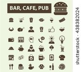 bar  cafe  pub icons | Shutterstock .eps vector #438382024