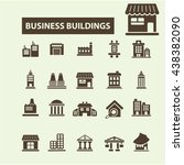 business buildings icons | Shutterstock .eps vector #438382090