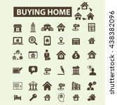 buying home icons | Shutterstock .eps vector #438382096