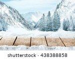 xmas desk top of wood  | Shutterstock . vector #438388858