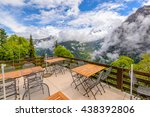 view from hotel or restaurant... | Shutterstock . vector #438392806