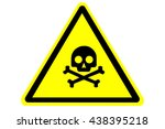 skull and bones warning sign | Shutterstock .eps vector #438395218