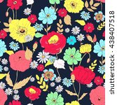seamless floral background... | Shutterstock . vector #438407518
