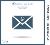 mail icon. vector | Shutterstock .eps vector #438410029