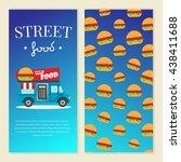 street food truck vector... | Shutterstock .eps vector #438411688