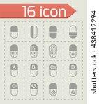 vector pills icon set | Shutterstock .eps vector #438412294