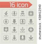 vector download icon set | Shutterstock .eps vector #438412540