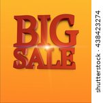 3d render big sale text on... | Shutterstock . vector #438423274