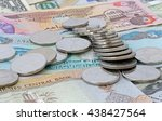 heap of dirham coins on several ... | Shutterstock . vector #438427564