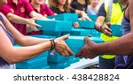 charity and giving is an... | Shutterstock . vector #438428824