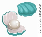Turquoise Shell With Pearl...