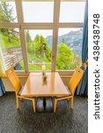 modern dining room in luxury...   Shutterstock . vector #438438748
