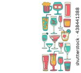 alcohol drinks and cocktails... | Shutterstock .eps vector #438441388