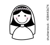 happy wife isolated icon design | Shutterstock .eps vector #438443674