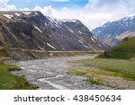 rocky mountain river on the... | Shutterstock . vector #438450634