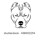 dog breed line art logo   pit...
