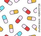 pattern pill | Shutterstock . vector #438455728