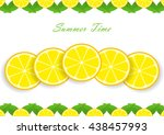 cute set with cartoon lemon and ...   Shutterstock .eps vector #438457993