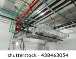 ventilation system and pipe...   Shutterstock . vector #438463054
