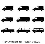set of vans | Shutterstock .eps vector #438464623