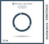 circular arrows vector icon | Shutterstock .eps vector #438470410