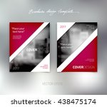 vector brochure or booklet... | Shutterstock .eps vector #438475174