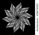 mandala. round ornament pattern ... | Shutterstock .eps vector #438476503
